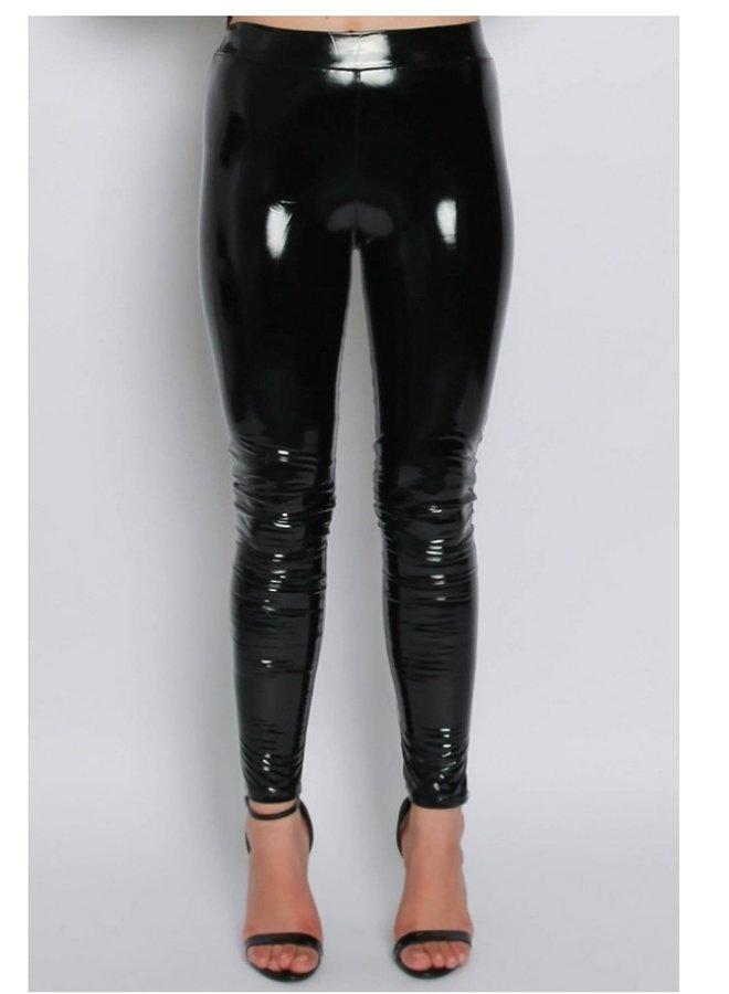 Wetlook vinyl PU high waisted leggings