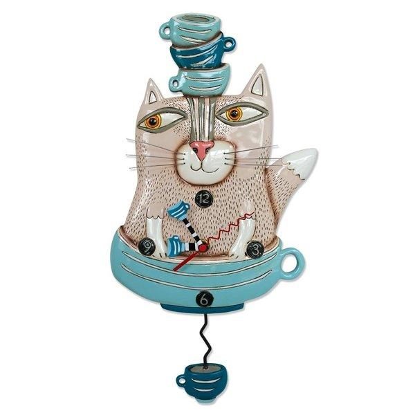 Tea Cat Clock