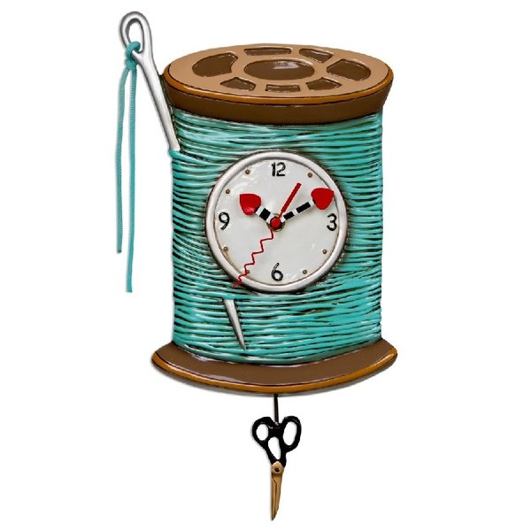 Needle and Thread Clock
