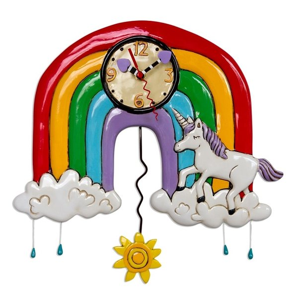 Unicorns & Rainbows Clock