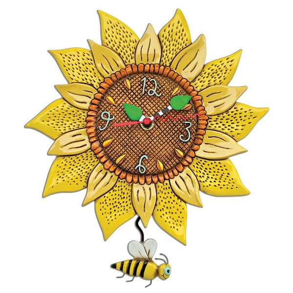 Sunflower Bee Clock