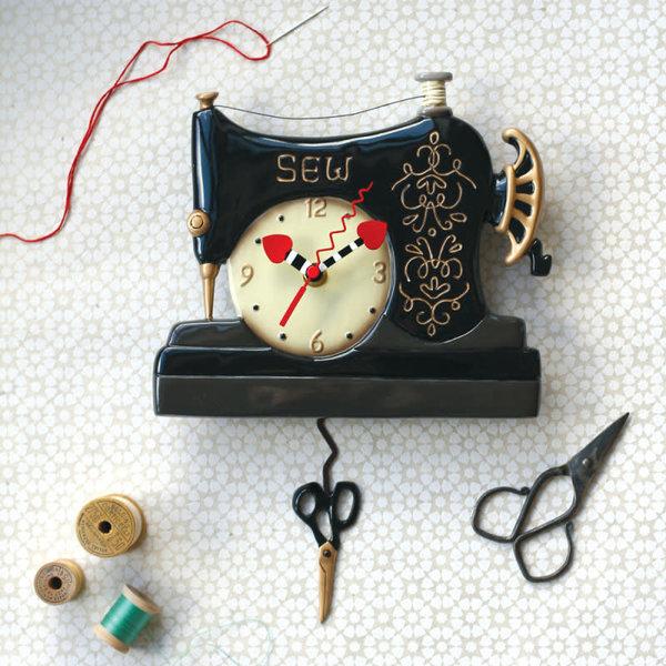 Vintage Stitch Clock