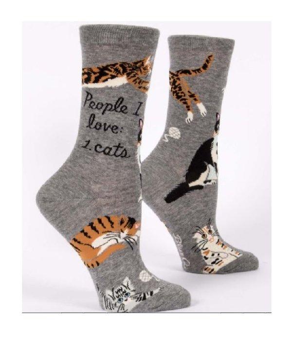 Blue Q People I Love Cats Women's Socks