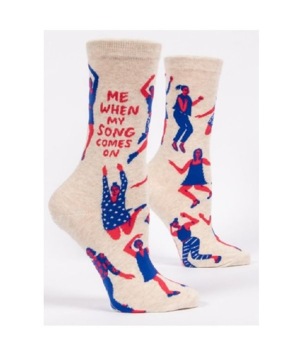 Blue Q When My Song Comes On Women's Socks