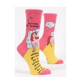 Blue Q Blue Q Always Be A Unicorn Women's Socks