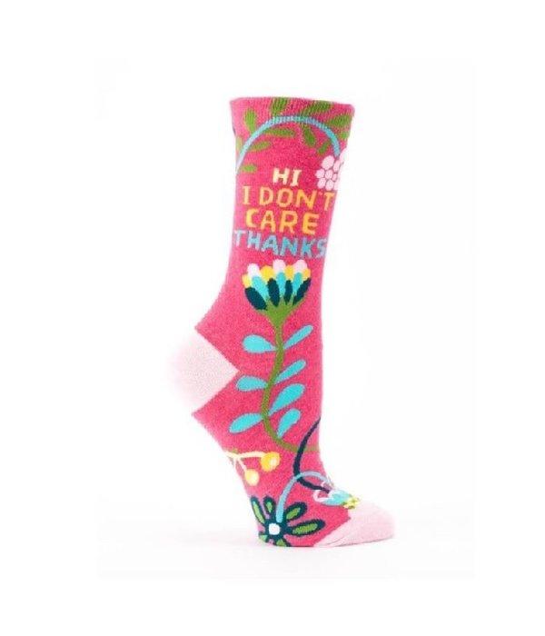 Blue Q Hi I Don't Care Women's Socks