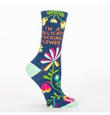 Blue Q Delicate F*cking Flower Women's Socks