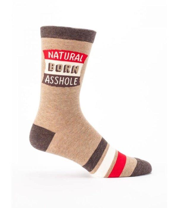 Blue Q Natural Born Asshole Men's Socks