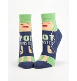 Blue Q Pot Monster Women's Ankle Socks