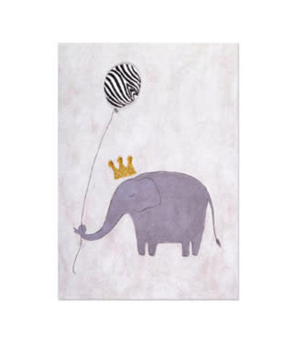 Papyrus Papyrus Birthday Card Elephant  Zebra Striped Balloon