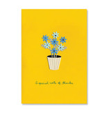 Papyrus Papyrus Thank You Card Pot Of Daisies On Gold