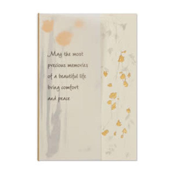 Papyrus Sympathy Card Cascading Flowers