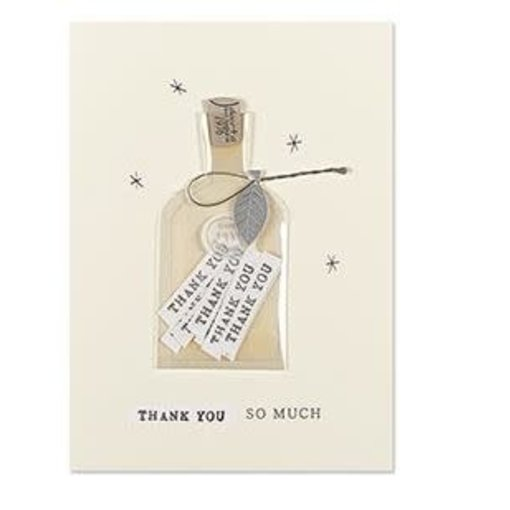 Papyrus Thank You Card Bottle Of Thanks