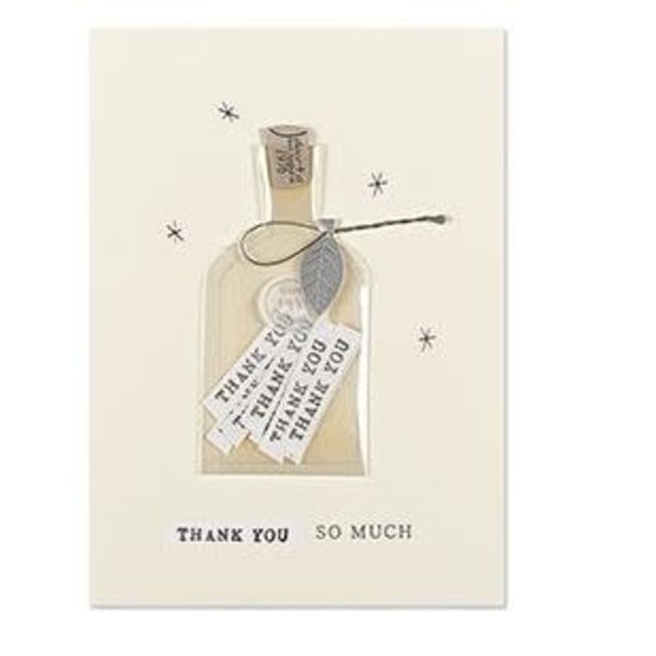 Thank You Card Bottle Of Thanks