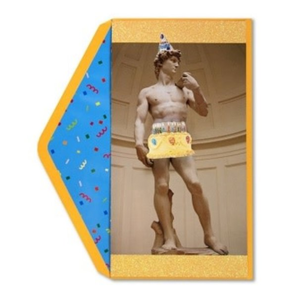 Birthday Card  Statue Of David