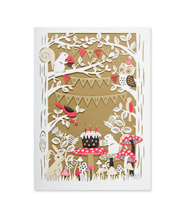 Papyrus Papyrus Birthday Card Laser cut Woodland