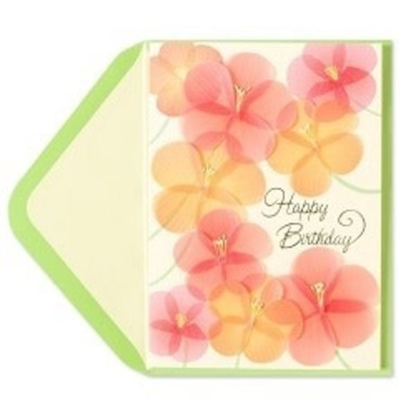 Scattered Flowers Birthday Card