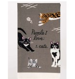 Blue Q People I Love: Cats Dish Towel