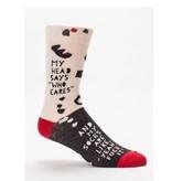 Blue Q Blue Q Who Cares Men's Socks