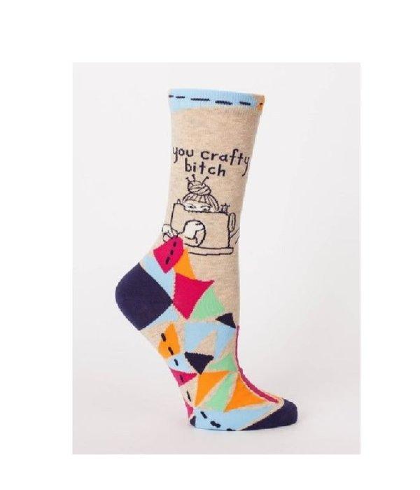 Blue Q Crafty Bitch Women's Socks