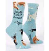 Blue Q People To Meet Dogs Women's Socks