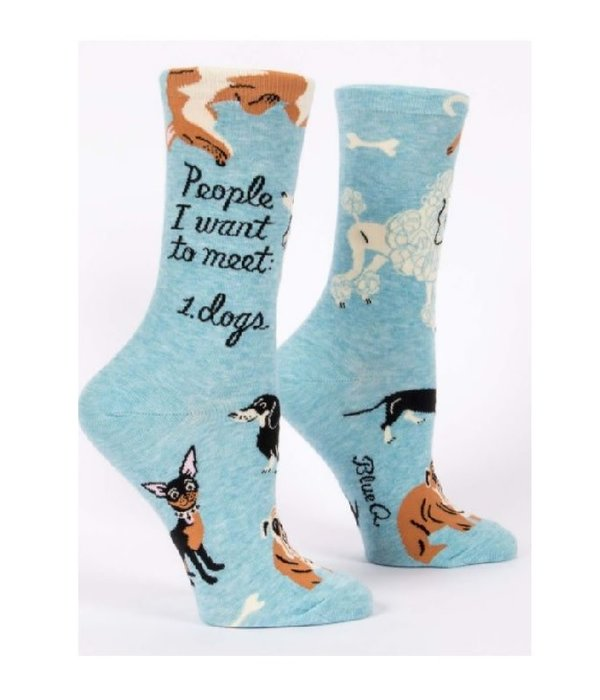 Blue Q People To Meet Dogs Women's Socks