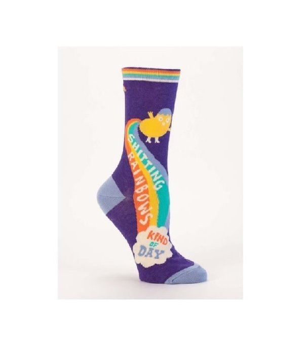 Blue Q Shitting Rainbows Women's Socks
