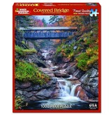 White MTN Puzzles Covered Bridge 1000 Piece Puzzle