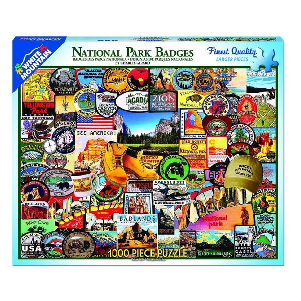 National Parks Badges 1000 Piece Puzzle