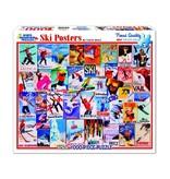 White MTN Puzzles Ski Posters 1000 Piece Puzzle
