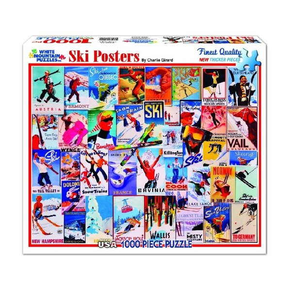 Ski Posters 1000 Piece Puzzle