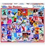 White MTN Puzzles Ski Posters 1000 Piece Puzzle