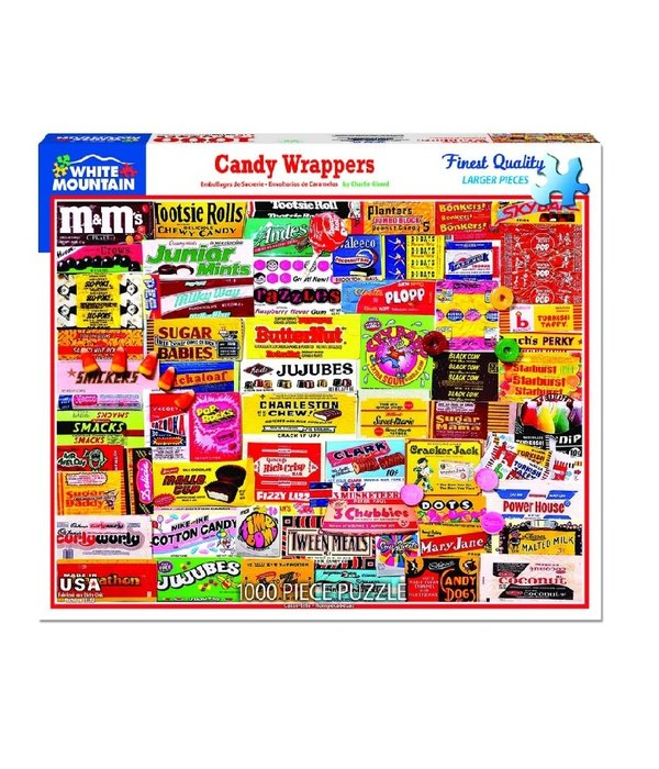 White MTN Puzzles Candy Wrappers 1000 Piece Puzzle