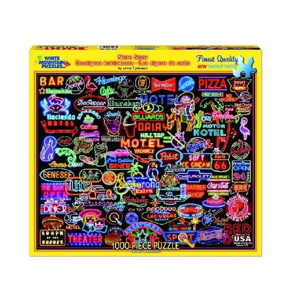 Neon Signs 1000 Piece Puzzle