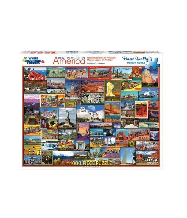White MTN Puzzles Best Places 1000 Piece Puzzle