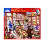 White MTN Puzzles Old Candy Store 1000 Piece Puzzle