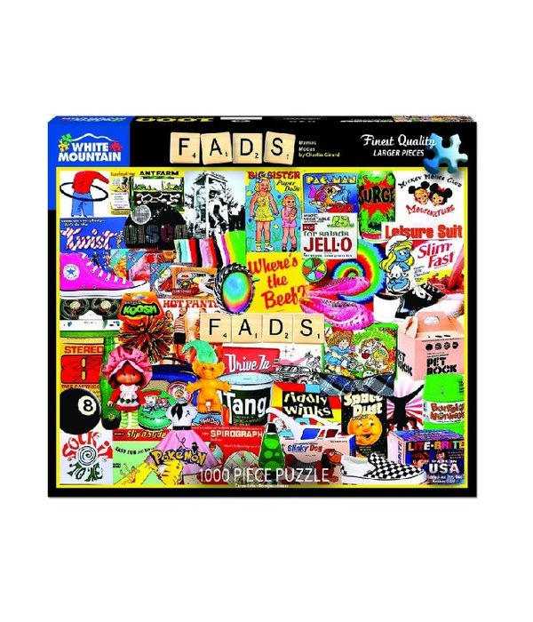 White MTN Puzzles Fads 1000 Piece Puzzle