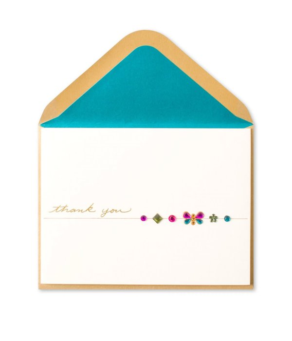 Papyrus Thank You Card Butterfly Gems With Thank You
