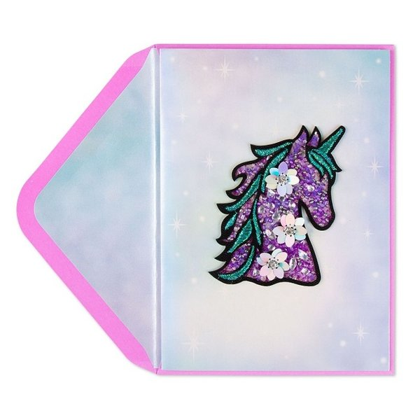 Birthday Card Jeweled Unicorn