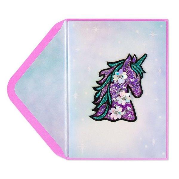 Birthday Card Jeweled Unicorn