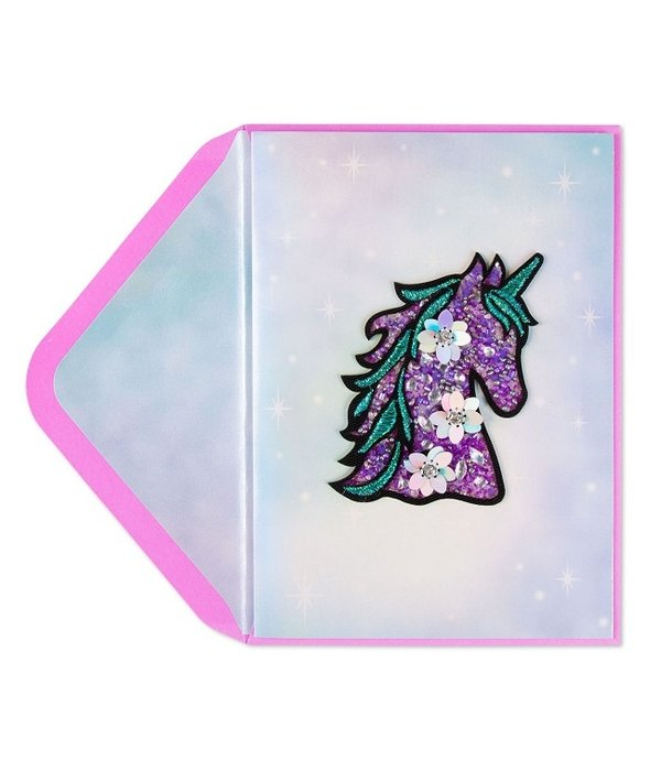 Papyrus Papyrus Dazzling Unicorn Patch Birthday Card