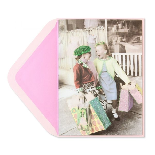 Birthday Card 2 Girls Shopping