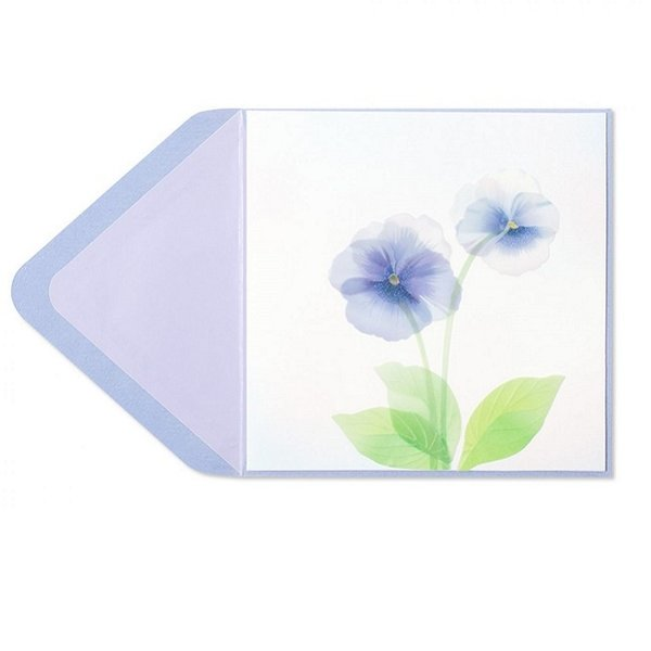 Birthday Card Purple Pansies