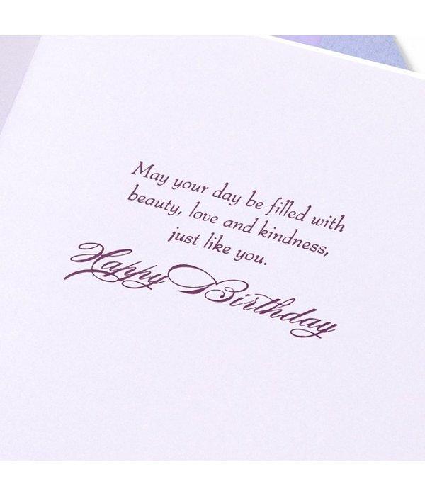 Papyrus Papyrus Birthday Card Purple Pansies