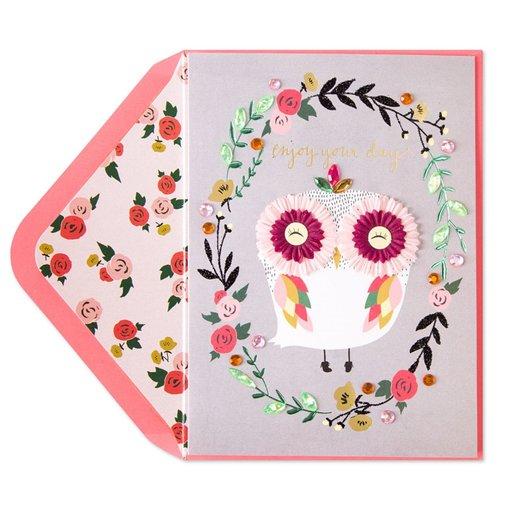 Papyrus Birthday Card Femme Owl