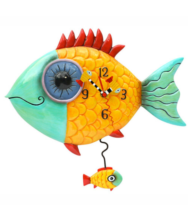 Allen Designs Allen Design- Wide Eye Fish Clock