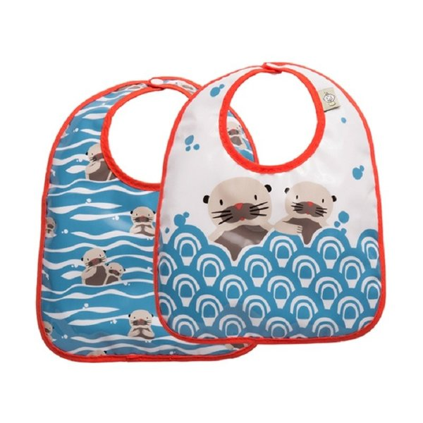 Set of 2 Baby otter Bibs