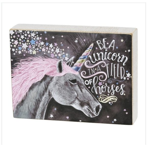 Chalk Unicorn Sign