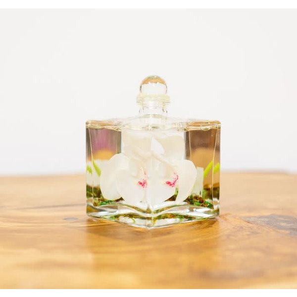oil candle boxed white orchid