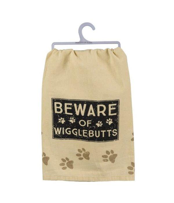 Primitives Dish Towel Beware Of Wigglebutts